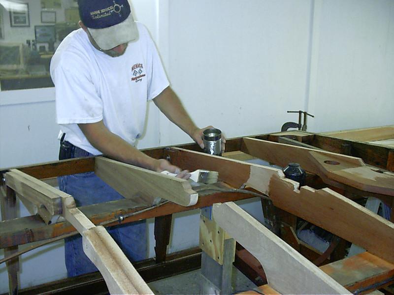 coating frames with epoxy