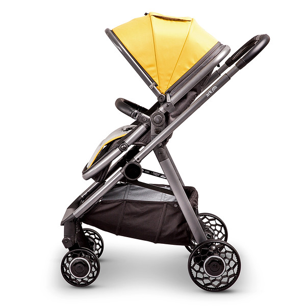 3 Ark Travel System Pushchair Mode World Facing Mustard.jpg