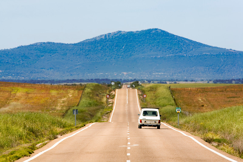 Lonesome road, province of Caceres, Spain