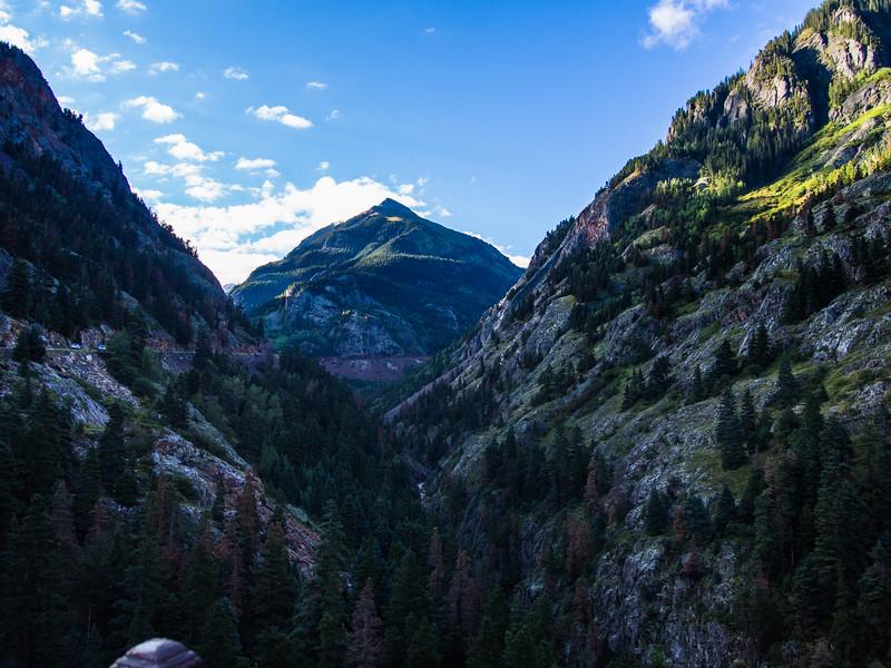 looking south from  Bear Creek Falls