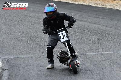 Go Ped Racer # 22 Black Helmet