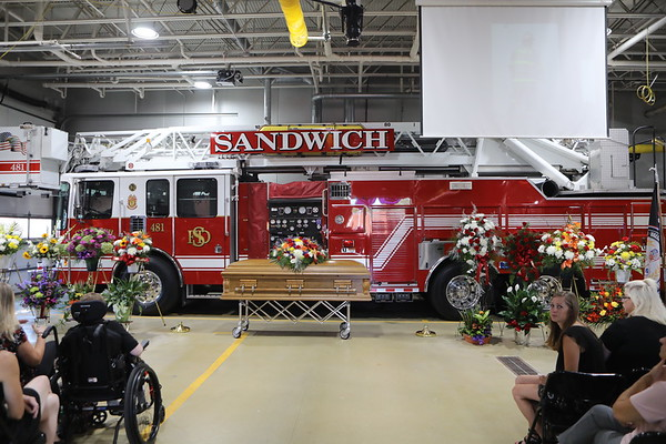 """Sandwich Fire Protection District Funeral Services For Fire Chief Jason  """" Jake """" Pruski"""