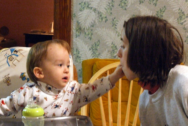 evan feeding auntie ellen