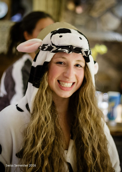 Ellie as a holy cow for Halloween