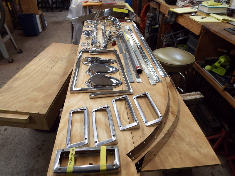 Chrome ready to be sent to the chrome shop.