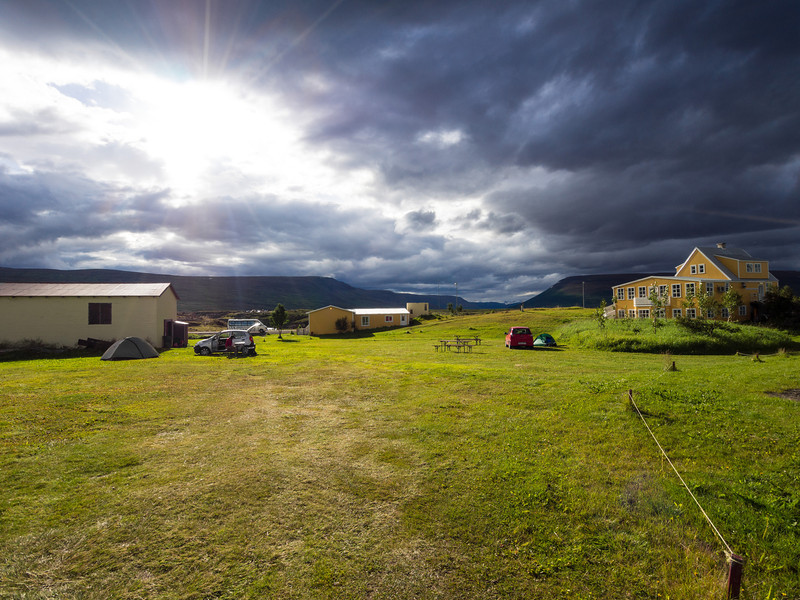 The farm and campsite at Godafoss
