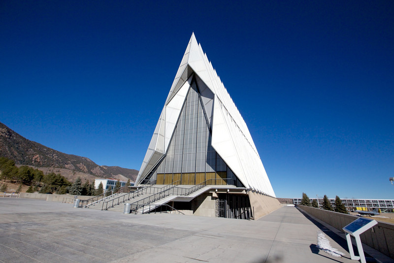 Air Force Chapel, designed as airplane wings.