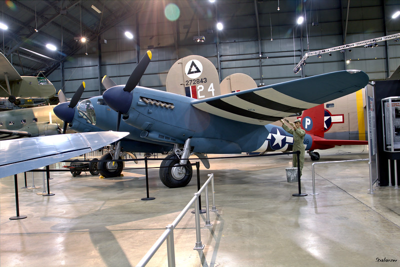 National Museum of the United States Air Force, Dayton, Ohio,   04/12/2019  De Havilland DH 98 Mosquito B Mk.35 RS709 -  restored to a Mk XVI variant and painted as NS519  This work is licensed under a Creative Commons Attribution- NonCommercial 4.0 International License.