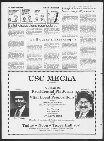 Daily Trojan, Vol. 97, No. 40, October 29, 1984