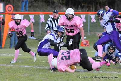 Jonesville vs Athens V Football (Pink Game)