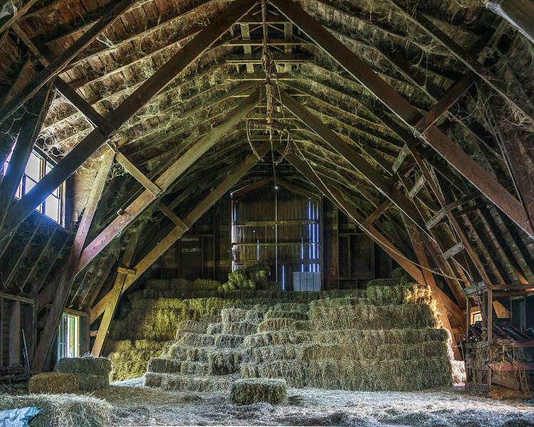 Hay Stack in the Barn Loft