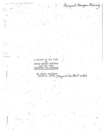 Lucie Henegar Allen's history of Henry Benton Henegar