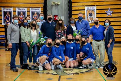 Fairfield Ludlowe Varsity Girls Basketball vs. Wilton - Senior Night - March 11, 2021