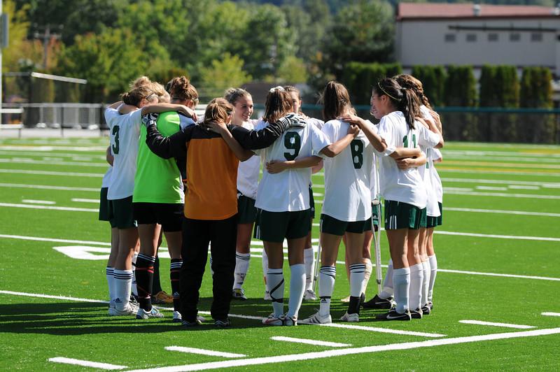 Eastlake vs Woodinville W Woodinville High Girls Varsity Soccer 2010  ©Neir