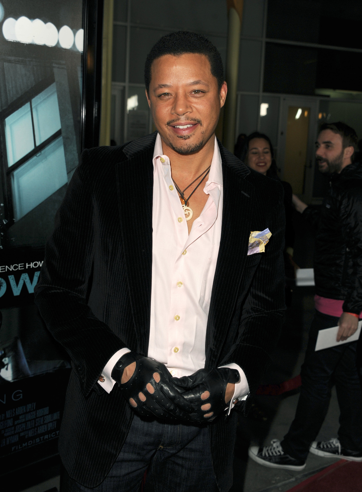 """. Actor Terrence Howard arrives to the premiere of FilmDistricts\'s \""""Dead Man Down\"""" at ArcLight Hollywood on February 26, 2013 in Hollywood, California.  (Photo by Kevin Winter/Getty Images)"""