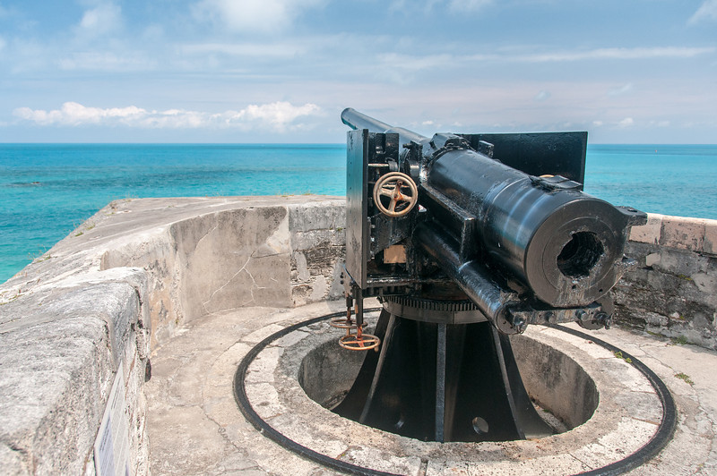 Telescope at Fort St. Catherine in St. George's Island, Bermuda