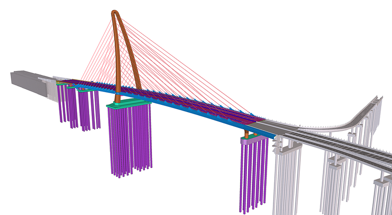 Thu Thiem 2 Bridge design