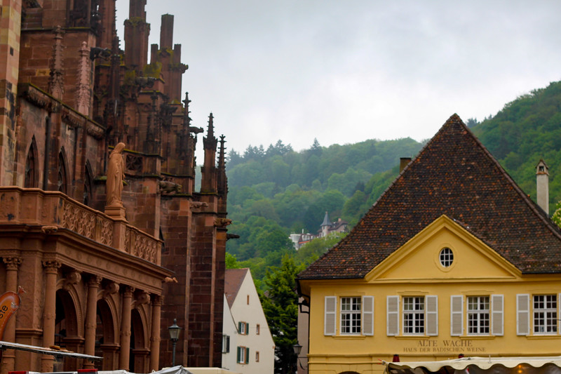 View from the Münsterplatz in Freiburg