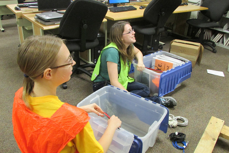 Megan and Haley find old safety vests we used to use
