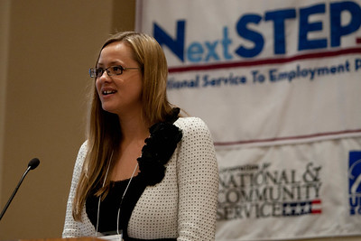 Speaker at Symposium on Service and Inclusion. Corporation for National and Community Service Photo.