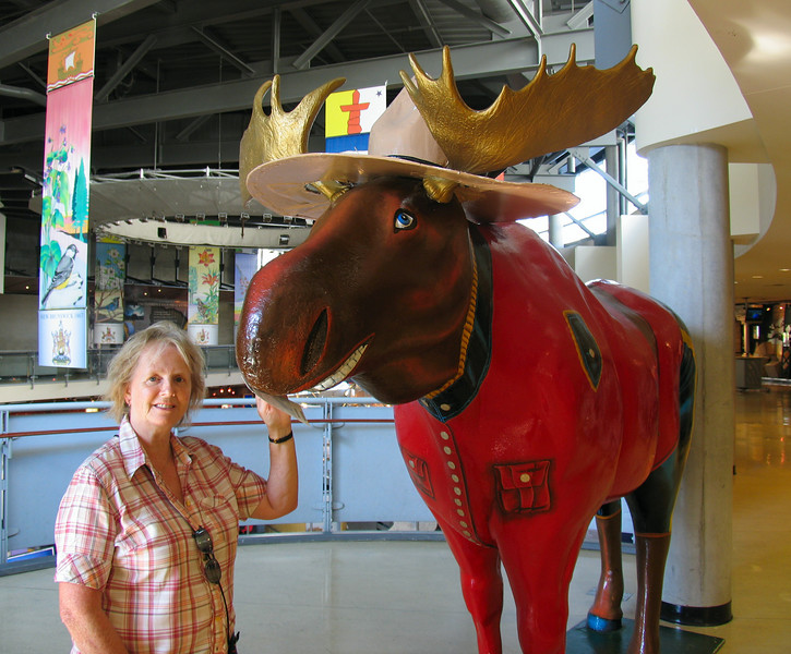 Moose and mother at the CN Tower (one is real...)