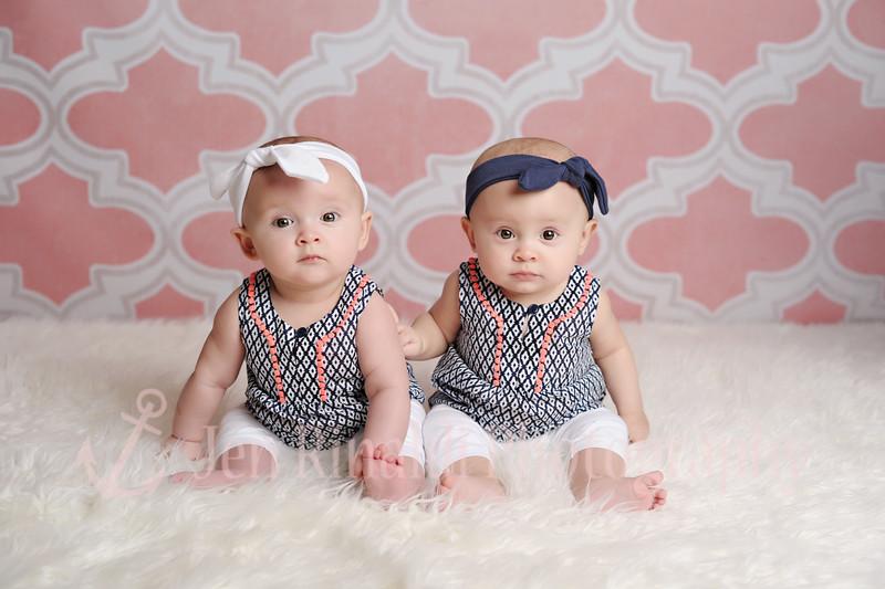 Ava & Ella 6 Months 4/6/15