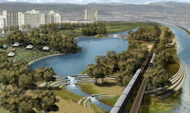 2007, Island on Revitalized LA River