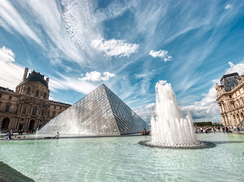 The Louvre on a Summer Day