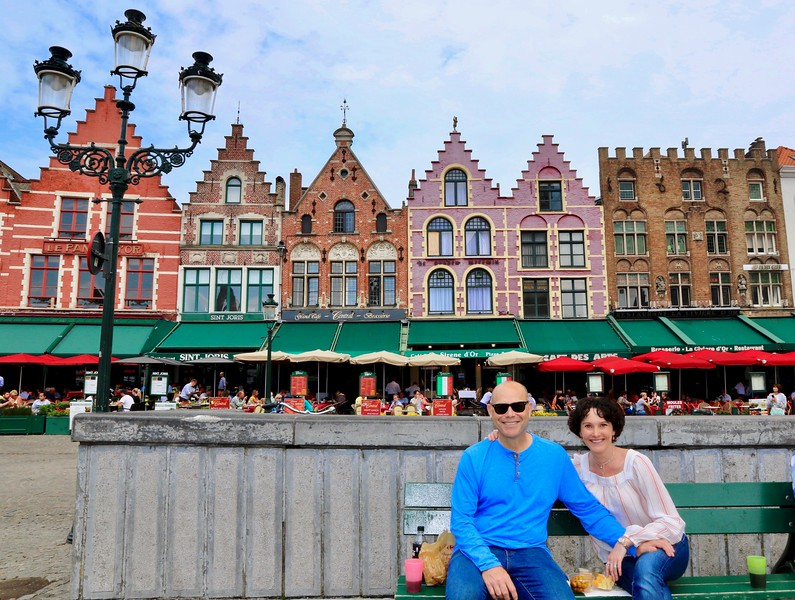 What a place to celebrate turning 50! - Markt Square — Bruges, Belgium.