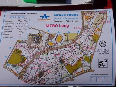 23 May 2021 Bruce Ridge MTBO