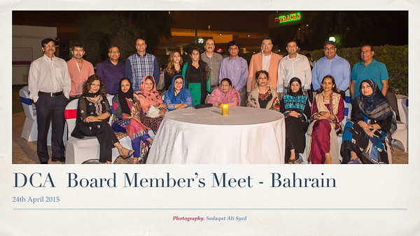 DCA Board Dinner - Bahrain - 24thApril 2015