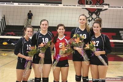 2010 Raven Volleyball ~ Senior Night