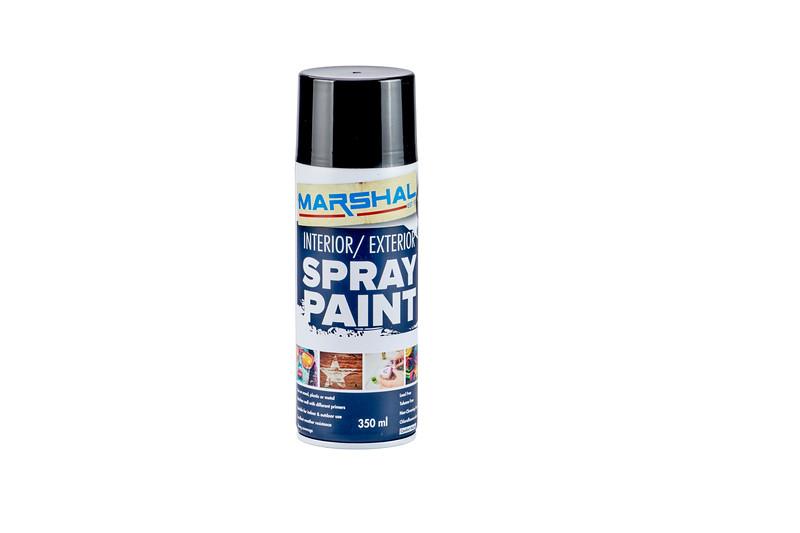 Marshal, Interior/Exterior Spray Paint, Satin Black 1133, 350ml