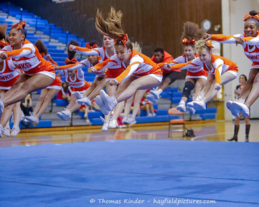 Varsity Cheer at Gunston District Finals 10/21/19