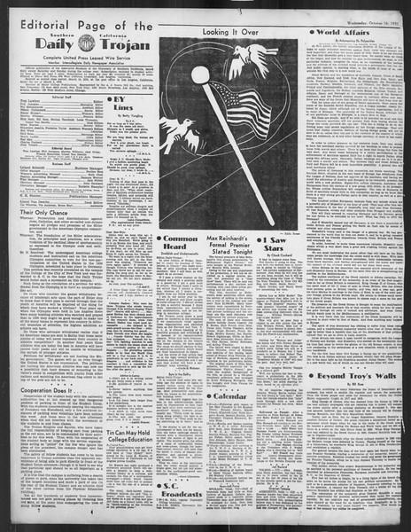Daily Trojan, Vol. 27, No. 19, October 16, 1935