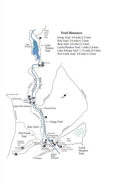 Buttermilk Falls State Park (Trail Map)