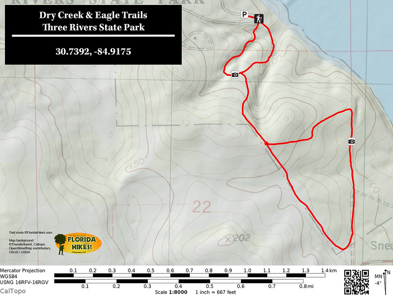 Dry Creek and Eagle Trail Map