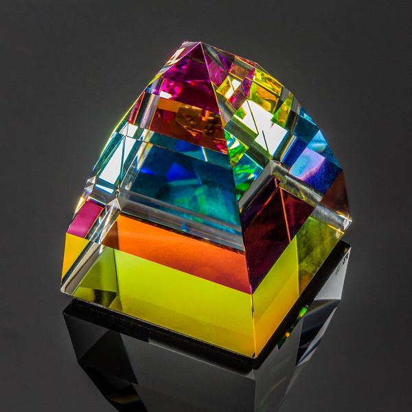 Swarovski Pyramid Vitral Paperweight