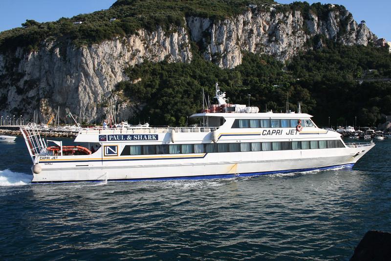 2008 - CAPRI JET arriving to Capri.