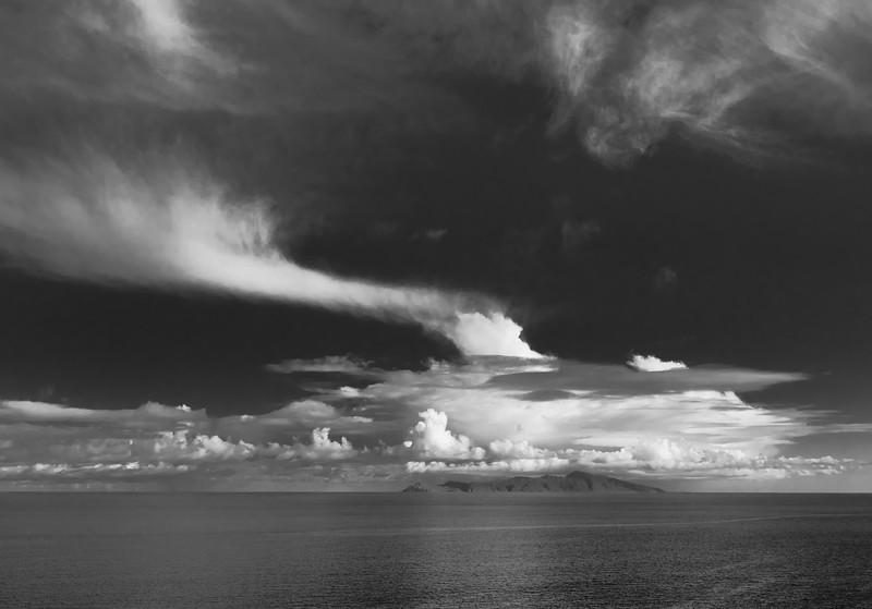 Kapiti Island under cloud