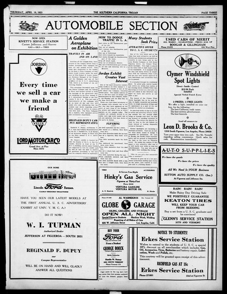 The Southern California Trojan, Vol. 14, No. 81, April 19, 1923