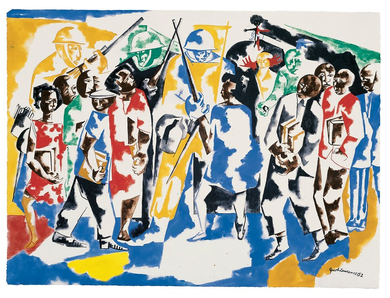 "Jacob Lawrence, ""Soldiers and Students,"" 1962"