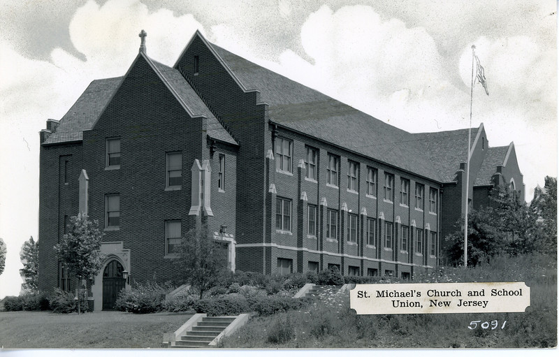 Saint Michael's Church and School about 1935.