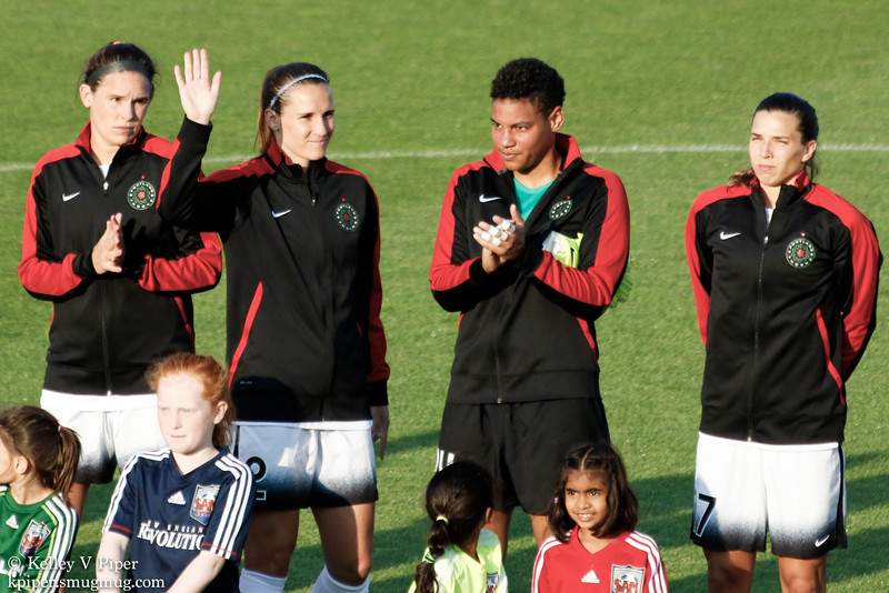 Emily Menges, Katherine Reynolds, Adrianna Franch, and Tobin Heath - Player Introductions (07 May 2016)