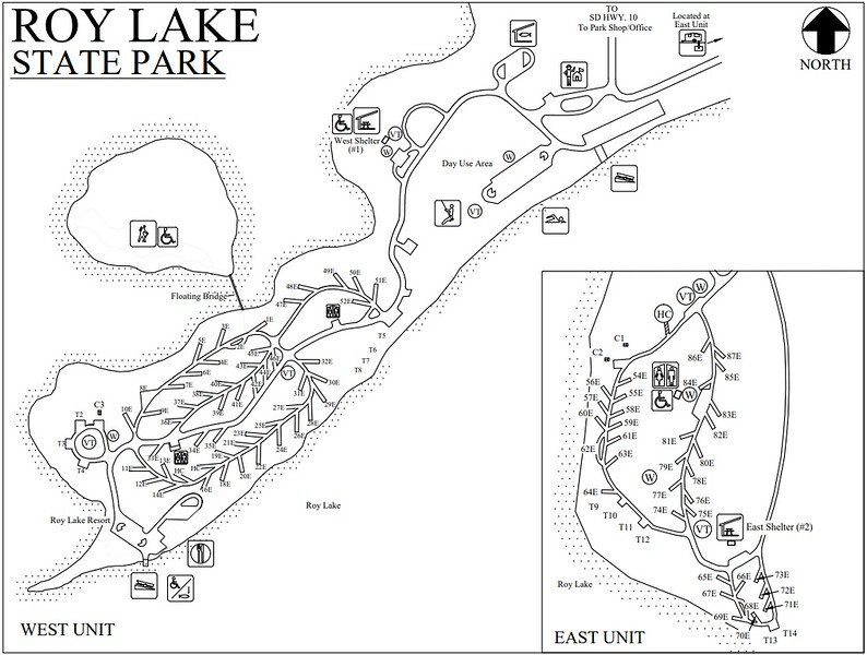 Roy Lake State Park (Campground Map)