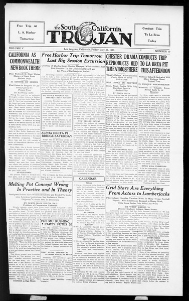 The Southern California Trojan, Vol. 5, No. 10, July 30, 1926