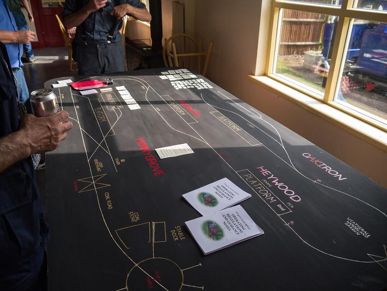 The railway layout