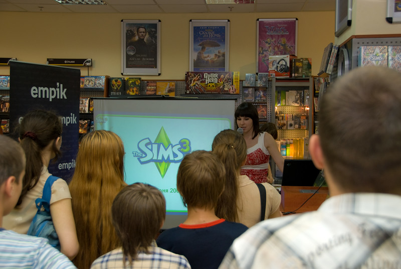 The Sims 3 launch in Empik Store