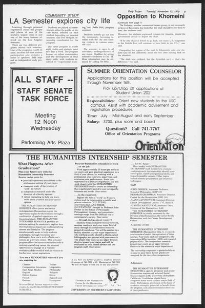 Daily Trojan, Vol. 87, No. 41, November 13, 1979