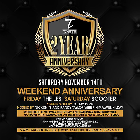 2 Year Anniversary Celebration With The Les 11.13.15